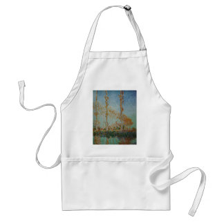 Tablier Claude Monet - l'illustration de peupliers