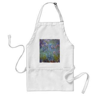 Tablier Claude Monet - peinture classique de fleurs