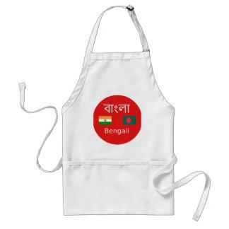 Tablier Conception bengali de langue