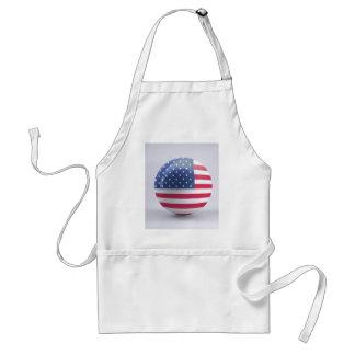 Tablier conception de cercle d'Etats-Unis-drapeau