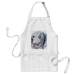 Tablier Couleur de denim de Weimaraner
