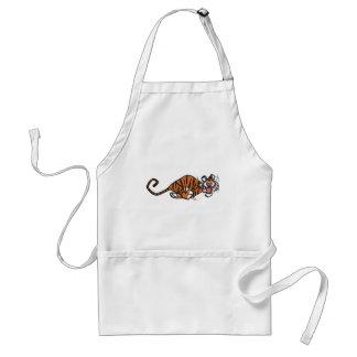 Tablier courant de cuisine de tigre de bande dessi