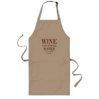 Tablier de cuisine d'amateur de vin