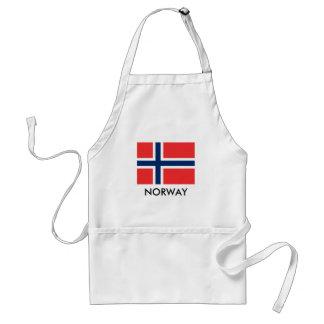 Tablier de cuisine de BBQ de drapeau de la Norvège