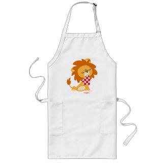 Tablier de cuisine de lion assouvi par bande dessi