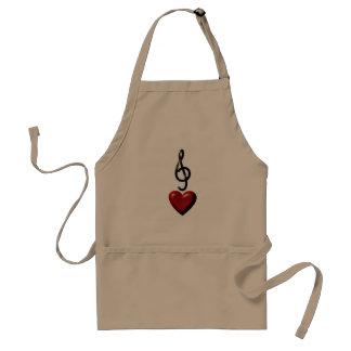 Tablier de cuisine de musique d'amour