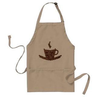 Tablier de grain de café. Café-restaurant. Cuisine