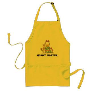 TABLIER de JAUNE heureux de lapin de Pâques