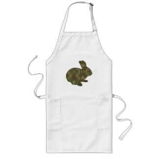 Tablier de lapin de Pâques de silhouette de