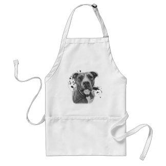 Tablier Dessin de l'art animal de chien de Pitbull sur la