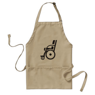 Tablier d'icône de fauteuil roulant