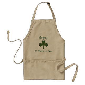 Tablier du jour de shamrock de St Patrick vert de