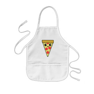 Tablier Enfant Caractère mignon de pizza