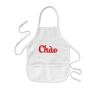 Tablier Enfant Chào/bonjour ~ Vietnam/Vietnamien/Tiếng Việt