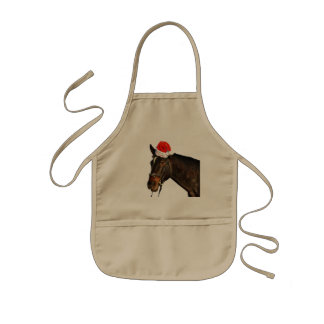 Tablier Enfant Cheval père Noël - cheval de Noël - Joyeux Noël
