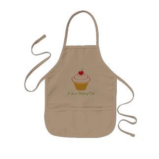 Tablier Enfant Club fait sur commande kaki de cuisson d'amour du
