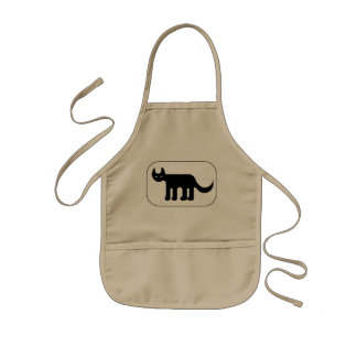 Tablier Enfant Cute black cat simple drawing apron