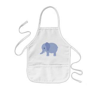 Tablier Enfant Éléphant de bleus layette