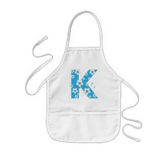 Tablier Enfant Enfants assez floraux initiaux du monogramme K,