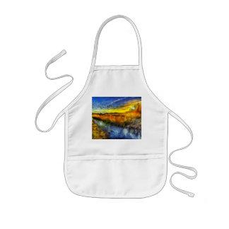 Tablier Enfant La rivière Van Gogh de coucher du soleil