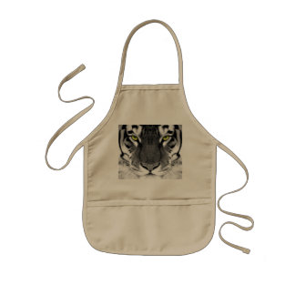 Tablier Enfant Visage de tigre - tigre blanc - tigre de yeux -