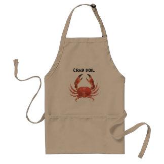 Tablier Fête d'anniversaire d'ébullition de crabe de