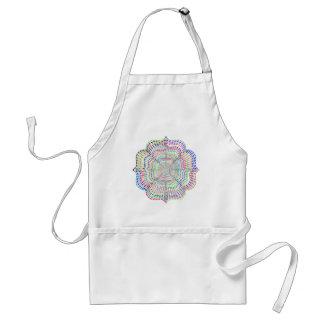 Tablier Fleur chromatique de mandala d'arc-en-ciel