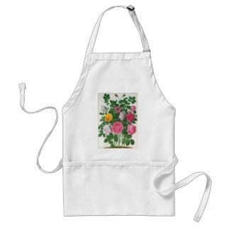 Tablier Fleurs de floraison de cru, roses de jardin de