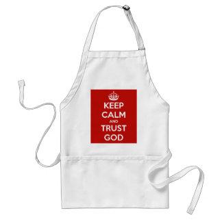 Tablier Gardez Dieu de calme et de confiance