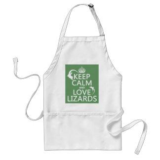 Tablier Gardez le calme et aimez les lézards - toutes les