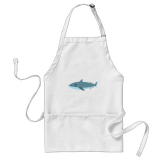 Tablier Grand style de primitif de requin blanc