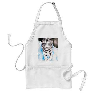 Tablier Hiver blanc de tigre sibérien