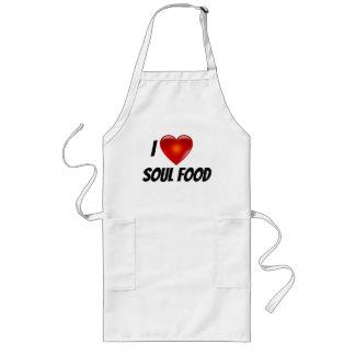 Tablier J'aime la nourriture d'âme de coeur