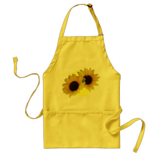 Tablier jaune de BBQ de tournesol de Cheeful de ta