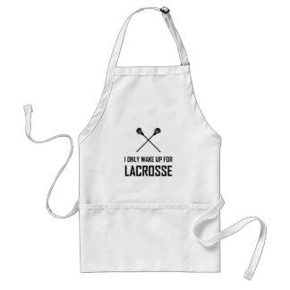 Tablier Je me réveille seulement pour la lacrosse