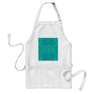 Tablier Joli motif tribal bleu vert au néon