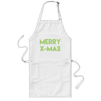 Tablier Joyeux Noël, Noël vert moderne de typographie