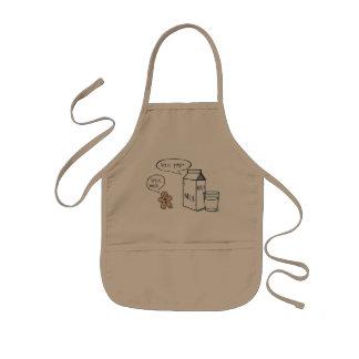 Tablier kaki d'enfants originaux de lait et de
