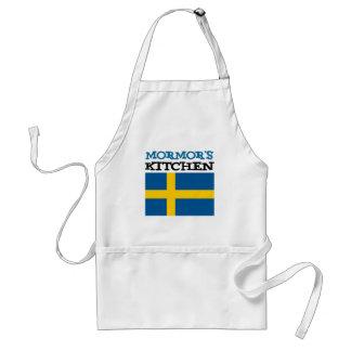 Tablier La cuisine de Mormor comportant le drapeau de la