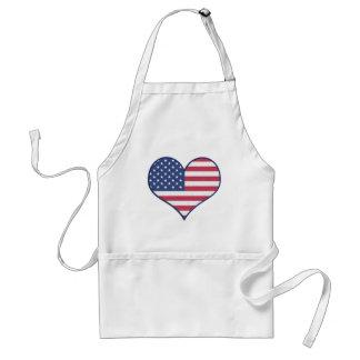 Tablier L'amour Etats-Unis Etats-Unis de coeur de symbole