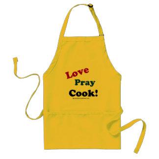 Tablier L'amour prient le chrétien de cuisinier