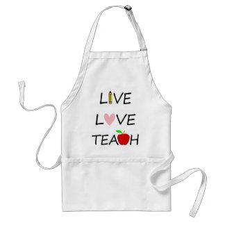 Tablier l'amour vivant enseignent