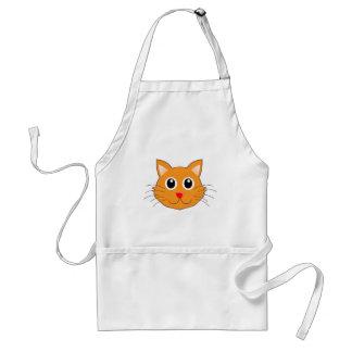 Tablier Le chat orange au nez rouge