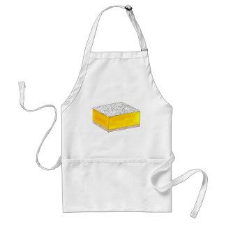 Tablier Le dessert de pâtisserie de barre carrée de citron