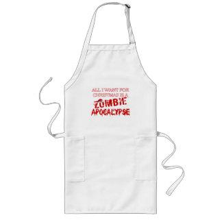 Tablier Long Apocalypse de zombi de Noël
