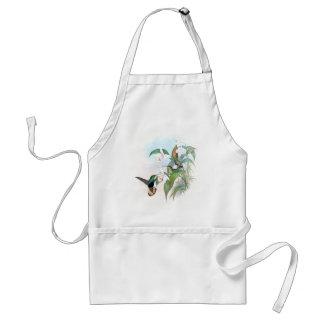 Tablier L'orchidée vintage d'oiseaux de colibri fleurit le