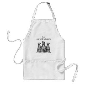 Tablier Manteau héraldique vintage d'emblème de château de