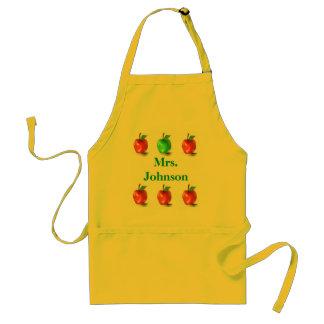 Tablier mignon d'art de pommes de professeur