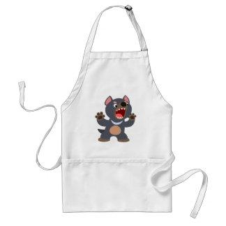 Tablier mignon de diable tasmanien de bande dessin