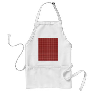 Tablier Motif Checkered simple rouge et blanc